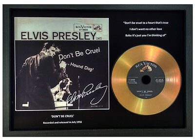 Elvis Presley 'don't Be Cruel' Signed Gold Presentation Disc