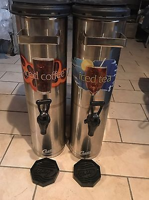 """""""set Of 2 CURTIS TCNC COMMERCIAL ICED TEA Iced Coffee HOLDER/DISPENSER"""