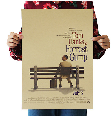 Forrest Gump Papery Posters Bedroom living room Background wall sticker
