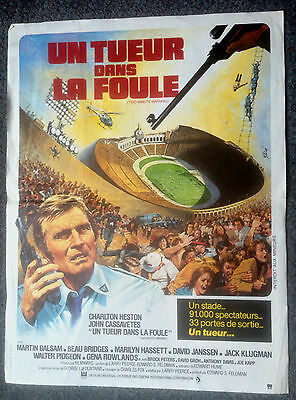 ORIGINAL FRENCH FILM POSTER TWO MINUTE WARNING Charlton Heston
