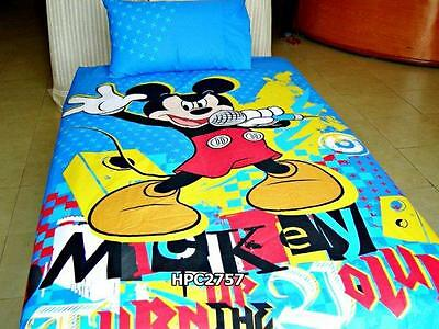 Mickey Mouse Official Disney Character Kids Bedsheet with Pillow ISO 9001
