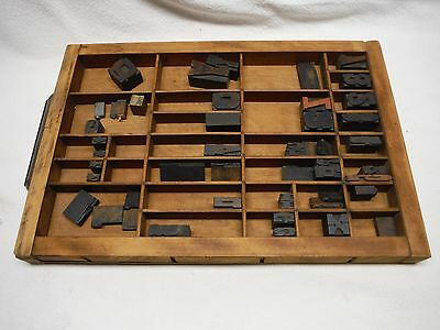 Vintage Antique Hamilton Printers Typeset Letter Drawer With Stamps