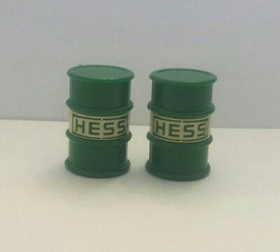 Set of 2 original barrels for 1987 HESS Truck