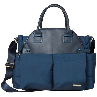 New Skip Hop Chelsea Downtown Chic Nappy Bag Midnight Navy Free Express Shipping