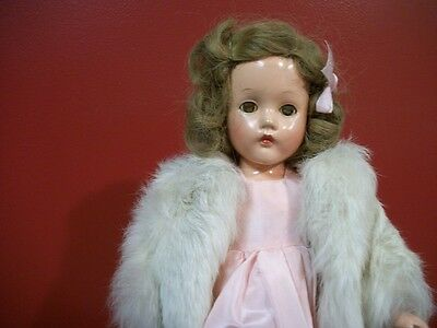 "Effanbee 14"" Suzanne Composition Doll From The 1940's All Original"