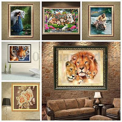 5D DIY Diamond Painting Animal Beauty Embroider Cross Stitch Home Decor Craft