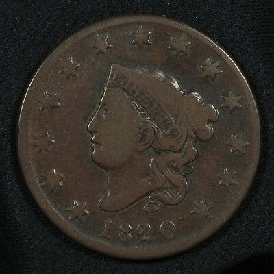 1920 Coronet Head Large Cent -- Fine Condition