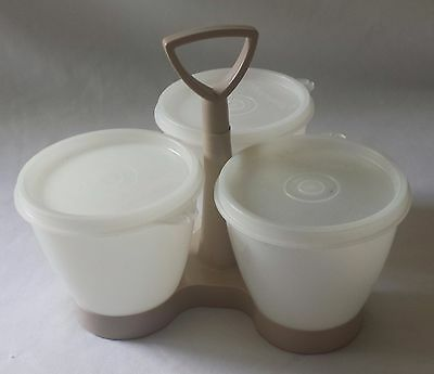 Original Vintage Tupperware Entertaining Trio Party Containers With Lids