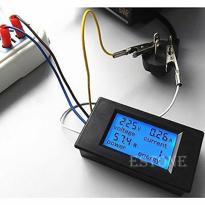 High Quality AC 80-260V LCD Digital 20A Volt Watt Power Meter Ammeter Voltmeter