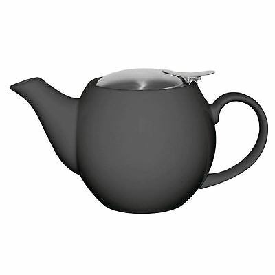 1x Olympia Cafe Teapot Charcoal 510ml 18oz Restaurant Catering Tea