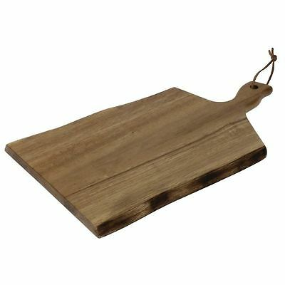Olympia Acacia Wavy Handled Wooden Board Small Chopping Cutting Presentation