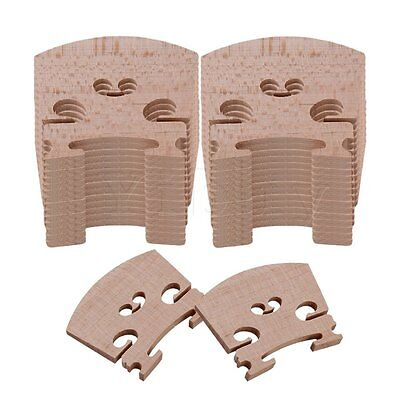 Yibuy 4/4 Full Size Violin Fiddle Bridge Set of 30 Burlywood