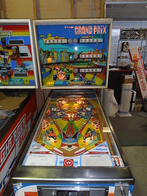 Grand Prix 1975 Williams Pinball Machine 100% Fully Working & Shopped MR PINBALL