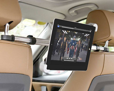 "New Central Car Back Seat Headrest Mount Holder Kit For 10-13"" Tablet Dvd Player"