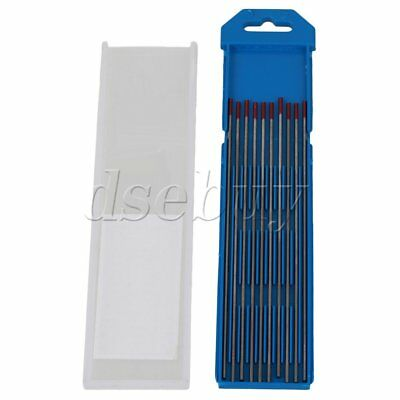 10pcs WT20 Red TIG Welding Tungsten Electrode 2% Thoriared Replace 2.0 x 150mm
