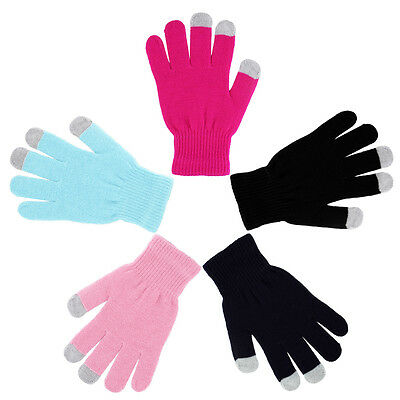 Unisex Touch Screen Gloves Smartphone Texting Knit Stretch Winter Warm AUOJ