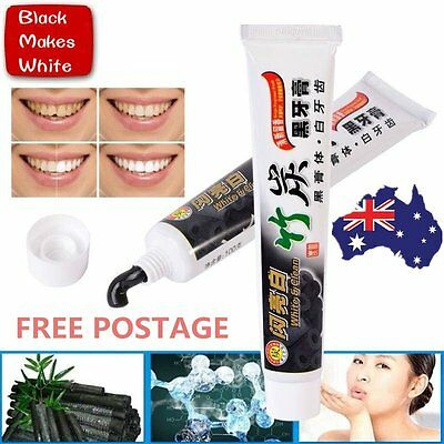 Pro 100g Bamboo Charcoal All-Purpose Teeth Whitening Clean Black Toothpaste AUOJ