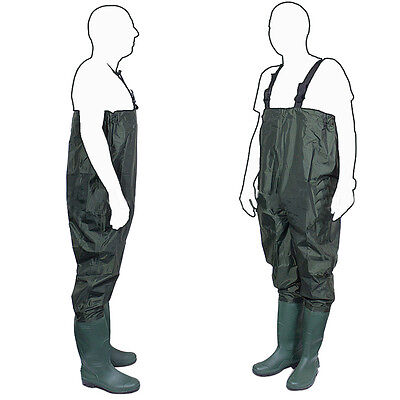 New Waterproof PVC Chest Waders size 6 7 8 9 10 Carp Fly Coarse Fishing Tackle