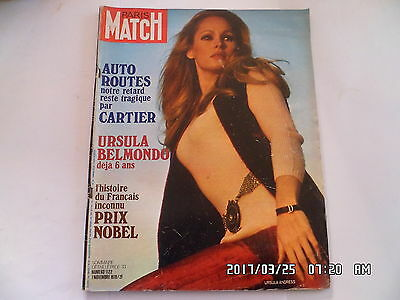 Paris Match N°1122 07/11/1970 Ursula Andress Gilbert Becaud Cassius Clay     K45