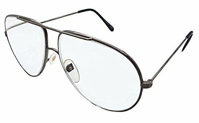 4 Pairs Of Large Gunmetal Classic Aviation Style Reading Glasses +3.0