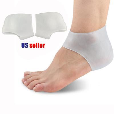 "Medical Silicone Gel Heel Sleeve Protector Pain Relief Cushion Pad Plantar ""ONE"""