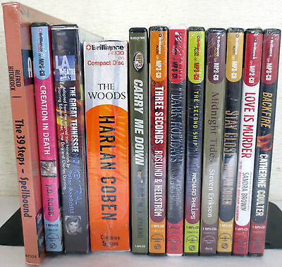 *New* Huge Lot CD Audio Books: Robb Coben Hyland Erikson Brown Coulter Hitchcock