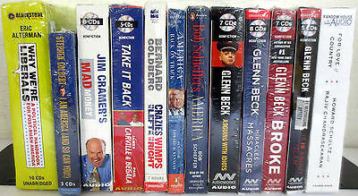 *New* Huge Lot CD Audio Books: Alterman Cramer Carville Schieffer Beck Schultz