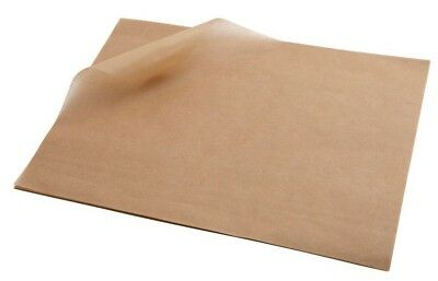 Greaseproof Paper Sheets Brown Burger Wrap Large 25x 35cm (1000 sheets)