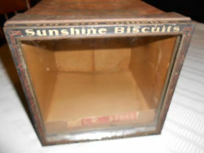 vintage sunshine biscuit box counter display point of sale country store