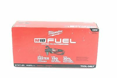 """BRAND NEW Milwaukee 2707-20 M18 FUEL Hole Hawg 1/2"""" Right Angle Drill"""