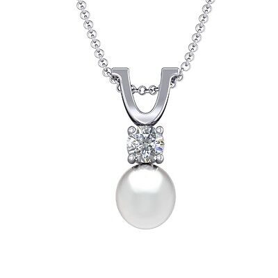 Sterling Silver Freshwater Pearl Drop Pendant With Gemstone Accent