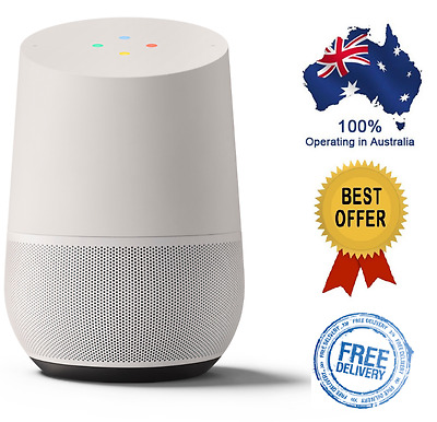 Google Home Wi-Fi Voice Activated Control Speaker (White Slate) - Brand New
