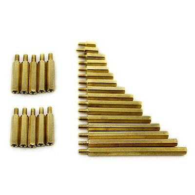 Female Male M3 Hex Hexagonal Brass Pillars PCB Threaded Standoff 3mm Spacers