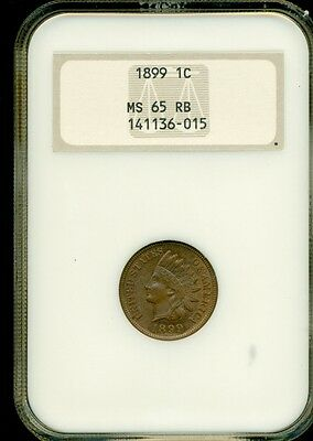 1899 Indian Head Cent NGC MS65 RB