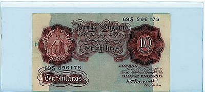 GREAT BRITAIN / ENGLAND - 10 Shillings  Old Note