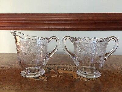 Crystal Footed Milk Creamer Server Jug