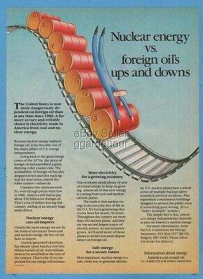 1987 Nuclear energy vs foreign oil US Committe for Energy Awareness print ad