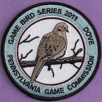 Pa Pennsylvania Game Fish Commission NEW 2011 FINAL ISSUE Dove Game Bird Patch