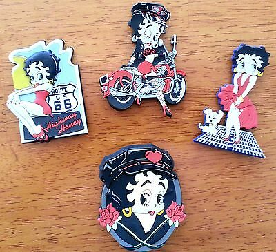 Lot of 4 King Features Syndicate Rubber Betty Boop Magnets 1998-1999 EUC