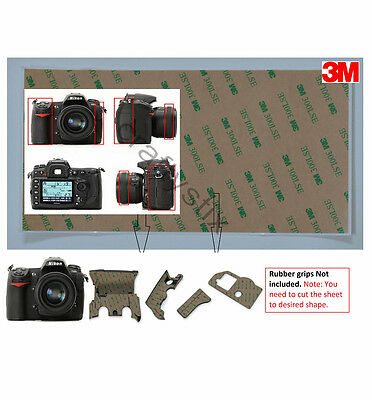 3M Rubber Grip Repair Tape Double sided adhesive 0.06mm For Nikon D300S Camera