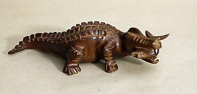 Wood Figurine Hand Carved ALLIGATOR With Fish in Mouth Crocodile