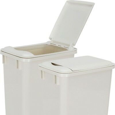 One White Lid For 35 Quart Heavy Duty Kitchen Cabinet Trash Can Garbage Plastic