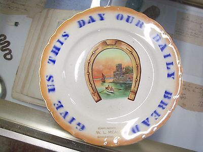 1900's Give Us This Daily Bread W.L. Mealy Wonewoc,Wisconsin Advertisement Plate