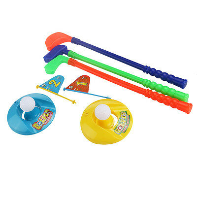 Kids Colorful Golf Toy Children Baby Plastic Golfer Toy Set Gift for Fun Play