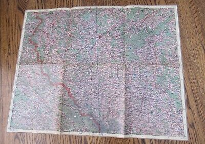 1943 British Army WWII Map Czechoslovakia Geographical General Staff Air Force