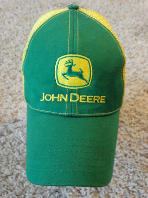 John Deere Cap/hat Mesh Style Trucker One Sizes Fit Barely Used