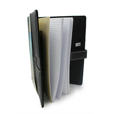 """Black Leather Notebook 8""""x11"""""""