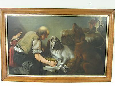 Painting, Dogs, c1890