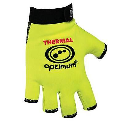 Optimum Rugby Stick Mitts Thermal FLUO Fingerless Gloves Yellow