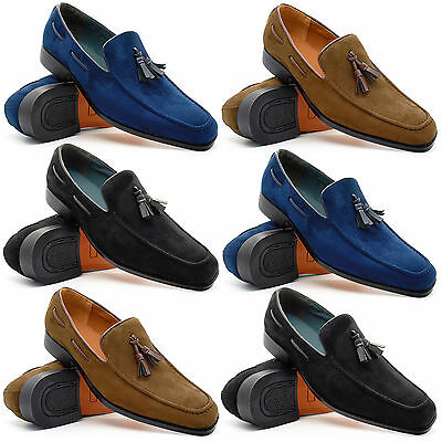 Mens New Slip On Loafers Tassel Shoes Smart Casual Dress Fashion UK Size 6-11
